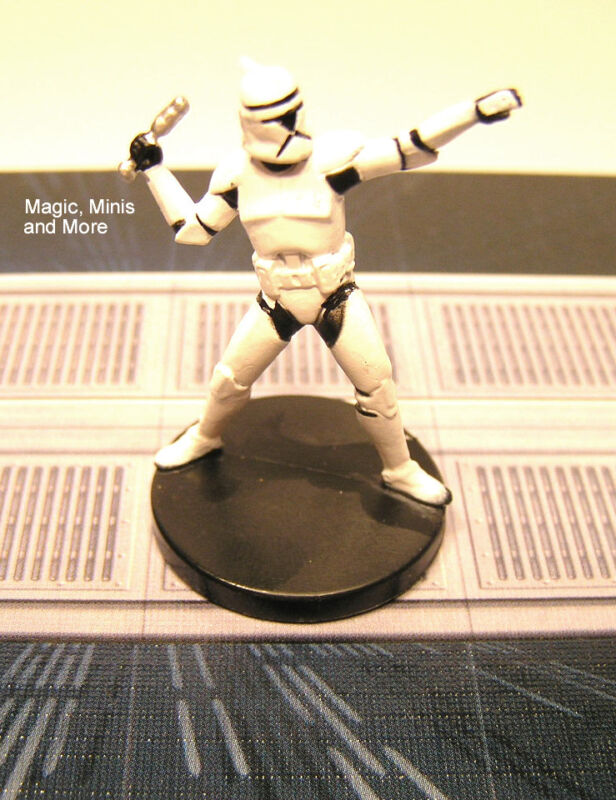 The Clone Wars ~ ELITE CLONE TROOPER GRENADIER #11 Star Wars miniature WotC