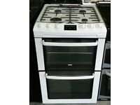 d040 white zanussi 55cm gas cooker comes with warranty can be delivered or collected