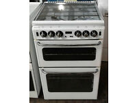 d444 white stoves 55cm gas cooker comes with warranty can be delivered or collected