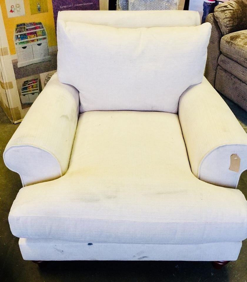 Ivory Armchair Sofa Dust Marks BRAND NEW EX DISPLAY
