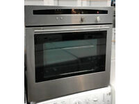 q194 stainless steel neff single electric oven comes with warranty can be delivered or collected