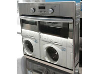 x215 stainless steel & mirror finish hotpoint single electric oven comes with warranty