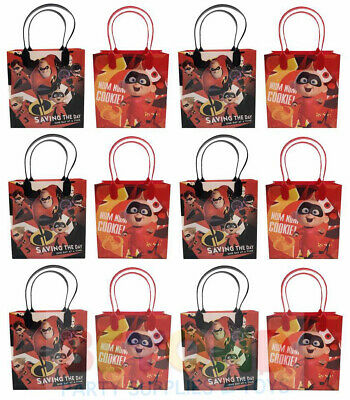 Disney Incredibles Gift Bags Party Favor Treat Goody Candy Loot Birthday Bags  - Plastic Treat Bags