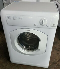 l310 white hotpoint 7kg vented tumble dryer comes with warranty can be delivered or collected
