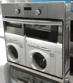 p215 stainless steel & mirror finish hotpoint single electric oven comes with warranty