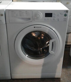 B747 white hotpoint 7kg 1400spin A+ rated washing machine comes with warranty can be delivered