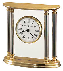 645-217  NEW ORLEANS, A  BRASS  HOWARD MILLER TABLE/ MANTLE CLOCK