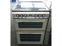 a022 silver stoves 60cm double oven ceramic electric cooker comes with warranty can be delivered