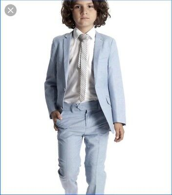 AWESOME Appaman Boy Light Blue Mod Suit 12 Dress Pants Blazer Wedding Prom Party - Appaman Mod Suit