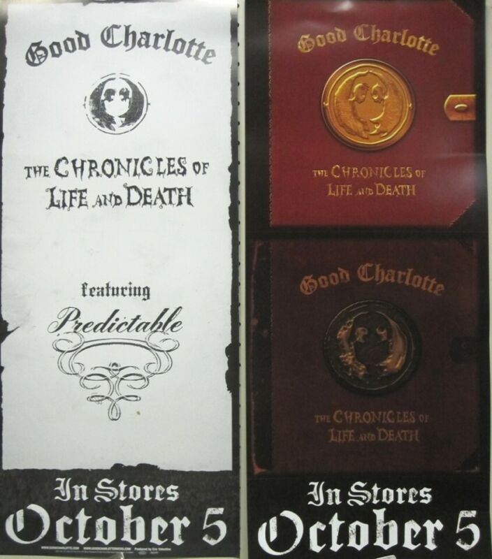 Good Charlotte 2004 Chronicles 2 sided promotional poster Flawless New Old Stock
