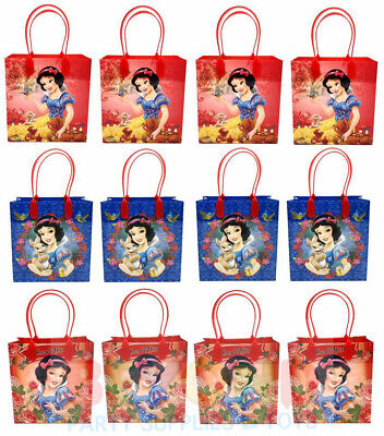 Disney Snow White Gift Bags Party Favor Treat Goody Candy Loot Birthday Bags  - Snow White Birthday