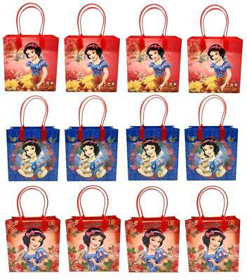 Disney Snow White Goody Bags Birthday Party Favors Gift Loot Bags (12pc)