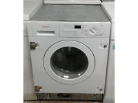 a535 white bosch 7kg 1400spin integrated washer dryer comes with warranty can be delivered