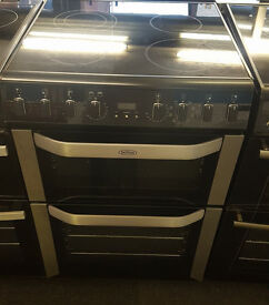 D09 black belling 60cm double oven electric cooker comes with warranty can be delivered or collected
