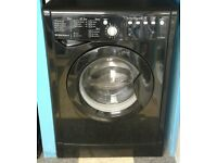 G341 black indesit 8kg 1200 spin washing machine with warranty can be delivered or collected