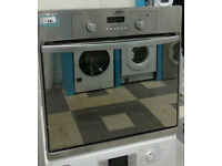 a215 stainless steel & mirror finish hotpoint single electric oven comes with warranty