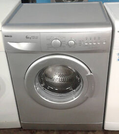 AA085 silver beko 6kg 1400spin A+A rated washing machine comes with warranty can be delivered
