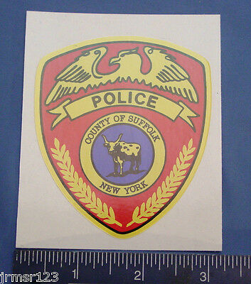 SUFFOLK COUNTY POLICE  NEW YORK PBA POLICE PD  NEW DECALS