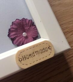 Lovingly hand made Personalised Framed A4 button head art a unique gift!! Great idea for mothers day