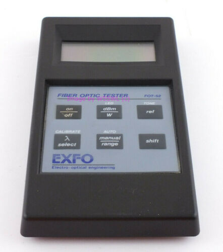 EXFO FOT-52 Fiber Optic Tester Front Half for parts
