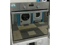 U215 stainless steel & mirror finish hotpoint single electric oven comes with warranty