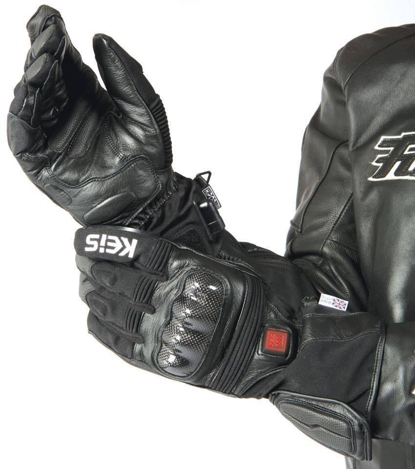 NEW Keis G501 Premium Heated Armoured Motorcycle Gloves Dual Power
