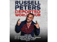 9X Tickets for Russell Peters Live @ Wembley Arena - TOMORROW