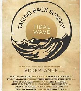 Taking Back Sunday Ticket Sydney (17/03/17) Taree Greater Taree Area Preview