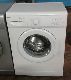C084 white beko 5kg 1000spin A+A rated washing machine comes with warranty can be delivered