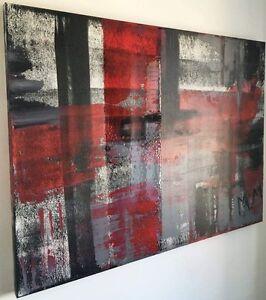 "Toile Abstraite Acrylic 36"" x 48"" par Artiste Montrealais"