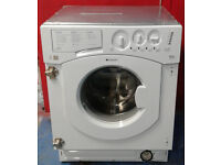 k390 white hotpoint 6.5kg 1200spin integrated washing machine comes with warranty can be delivered