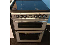 *65 silver stoves 60cm double oven gas cooker comes with warranty can be delivered