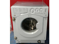 l390 white hotpoint 6.5kg 1200spin integrated washing machine comes with warranty can be delivered
