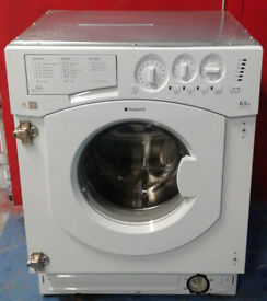 m390 white hotpoint 6.5kg 1200spin integrated washing machine comes with warranty can be delivered
