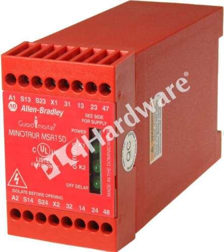 Allen-Bradley 440R-M23048 /A Monitoring Safety Relay MSR15D Minotaur 24V AC/DC
