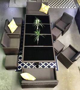 OUTDOOR rattan DINING SET - seats 12 versatile pack away design Hendon Charles Sturt Area Preview