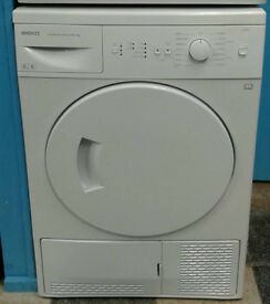 a772 white beko 8kg B rated condenser dryer comes with warranty can be delivered or collected