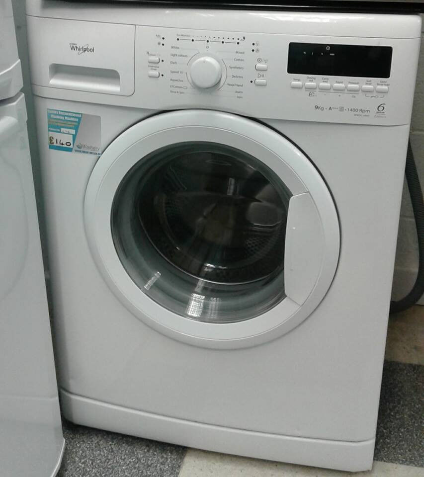 H716 white whirlpool 9kg 1400spin A+++ rated washing machine comes with warranty can be delivered