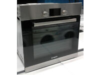 p242 stainless steel bosch single electric oven comes with warranty can be delivered or collected
