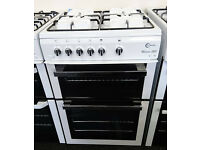 Ho75 white flavel 60cm gas cooker new graded with 12 months warranty can be delivered or collected