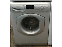 p406 silver hotpoint 5kg&5kg 1600spin washer dryer comes with warranty can be delivered or collected