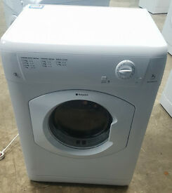 o316 white hotpoint 7kg b rated energy vented dryer comes with warranty can be delivered or colleted