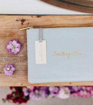 Katie Loxton Something Blue Perfect Pouch Clutch Bag Handbag Wedding Gift