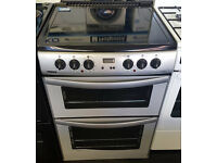 g239 silver & black 60cm double oven ceramic electric cooker comes with warranty can be delivered