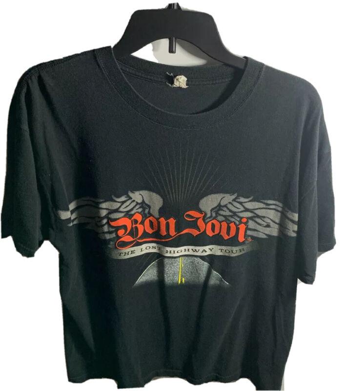 BON JOVI THE LOST HIGHWAY TOUR 2008 SHORT SLEEVE GRAPHIC T SHIRT SIZE XL