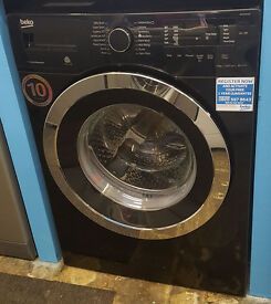 a147 black & chrome beko 9kg 1400spin washing machine comes with warranty can be delivered