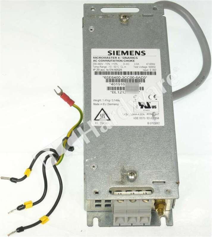Siemens 6SE6400-3CC00-6AD3 6SE6 400-3CC00-6AD3 MICROMASTER 4 Line Reactor 4.8A