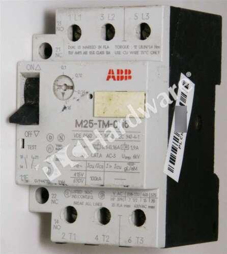 ABB M25-TM-0.16 Direct On Line Starter 0.1-0.16A 3-Ph 208-575V AC