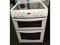 C147 white newworld 60cm double oven ceramic hob electric cooker comes with warranty can deliver