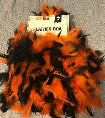 Orange/Black  Feather Boa halloween New with Tags - Orange Boas